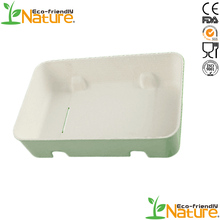 Eco Bio-degradable Serving tray Bagasse Packing Molded Pulp Buffering Packaging Tray