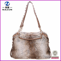 Trendy 2015 Hot Sale Women Shoulder Artificial Wool Handbags