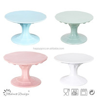 Hot sale! Colorful & Handmade ceramic wholesale cake stands