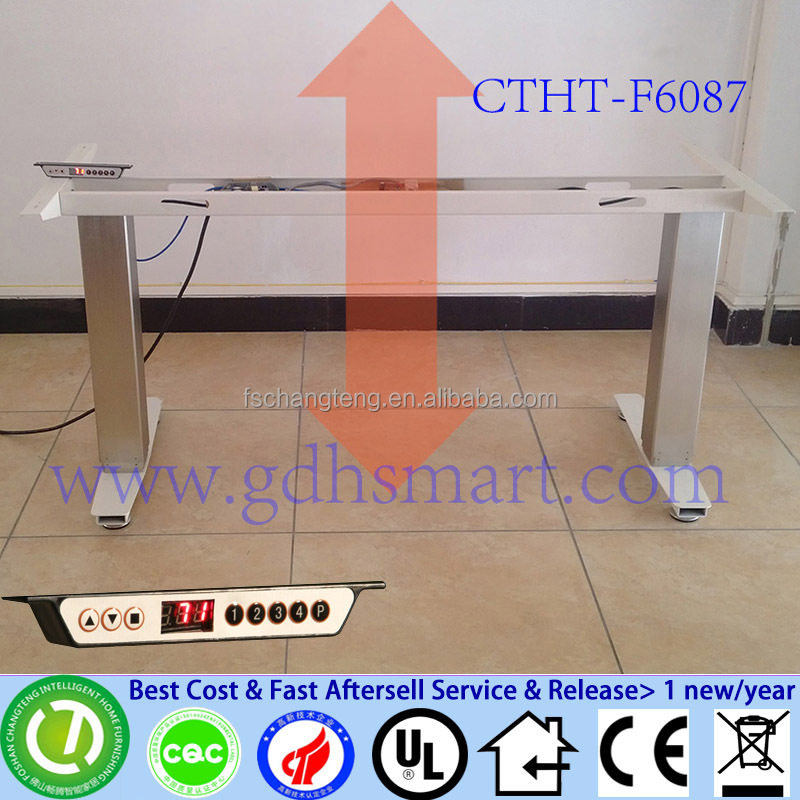 Aluminum alloy frame height adjustable table electric adjustable height conference