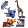 Magic Pocket Zoo 3D Animal AR Stereo Cards Kids Early Education 100Pcs/Set Cartoon Intelligence Toys Educational Toy For Child