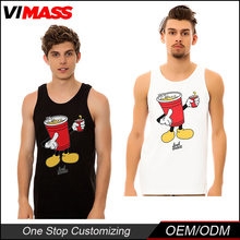 New design printed promotional men tank tops