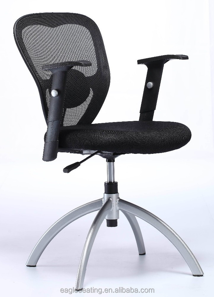 mesh adjustable recovery swivel office chair no wheels
