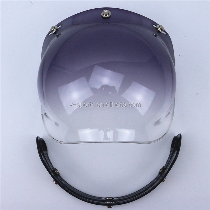 new bubble visor glasses for vintage motorcycle helmet windshield for moto retro jet helmet scooter vespa helmet glass anti-UV