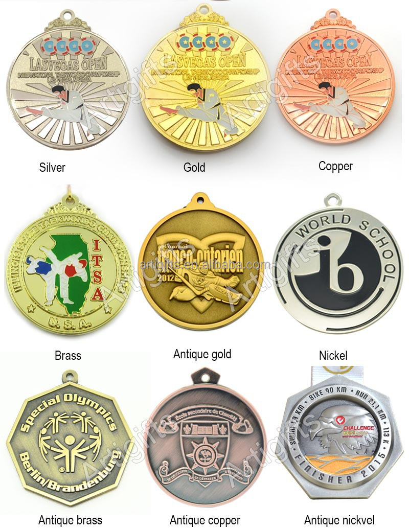 Custom design color brilliancy sports trophies medal
