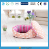 beautiful pink dot soft dog house