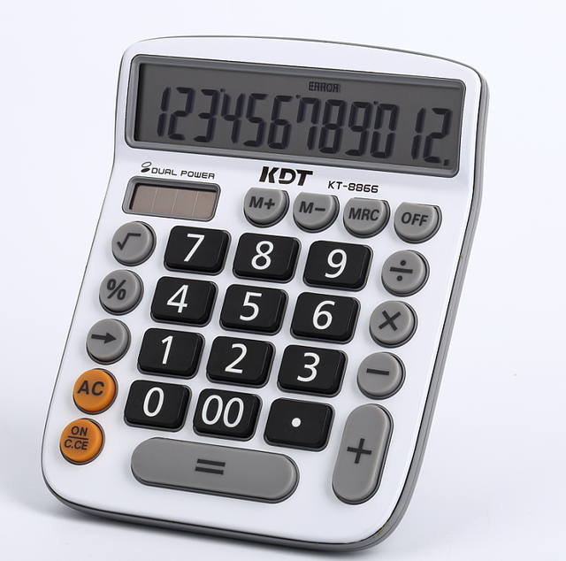 12 digits cheaper desktop electric calculator with battery cell