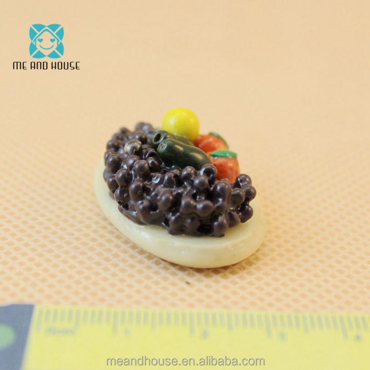 20 Pcs Kiwi Macarons Dollhouse Miniatures Food Bakery