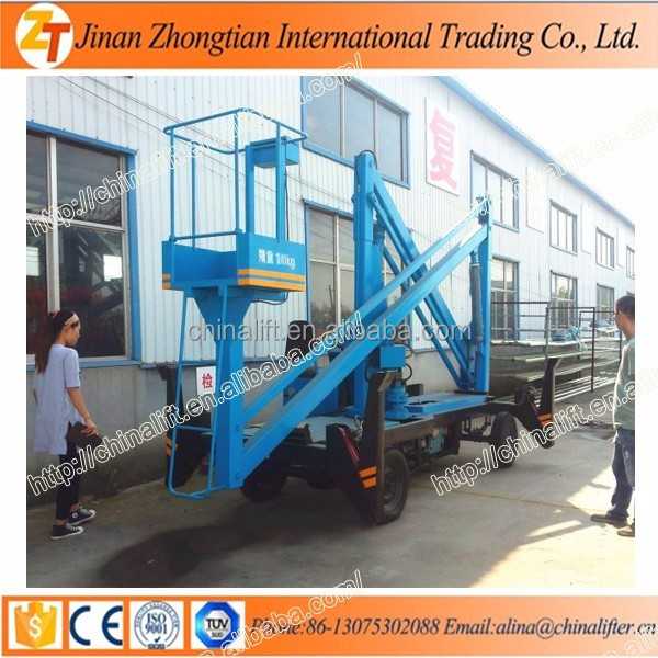 Diesel engine self propelled articulating small boom lifts for sale