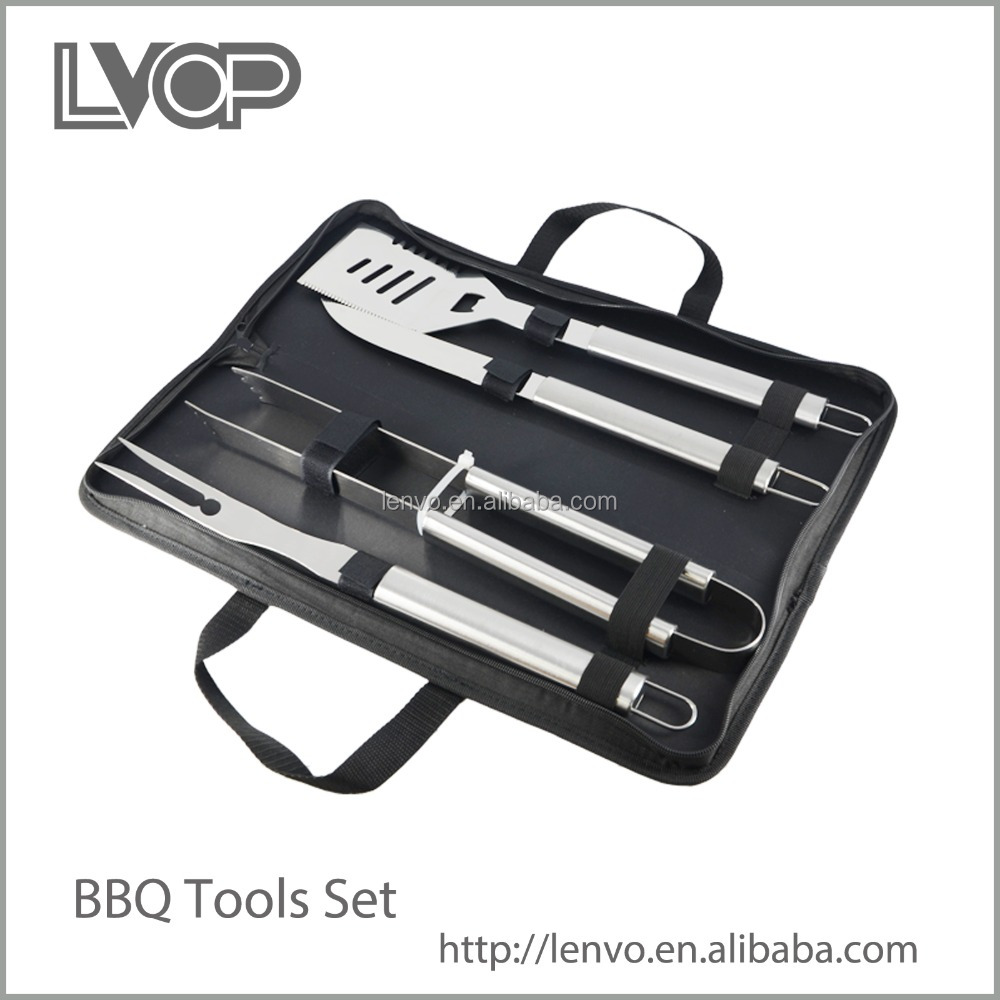 BBQ-NY009 High quality stainless steel bbq tools set with light