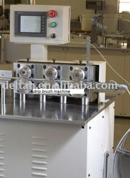 aluminium strip brush machine