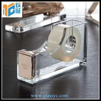 2016 wholesale office desk accessories customized clear acrylic tape dispenser
