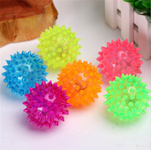 Pet Fun Toys Dog Puppy Cat LED Squeaky Rubber Chew Bell Ball