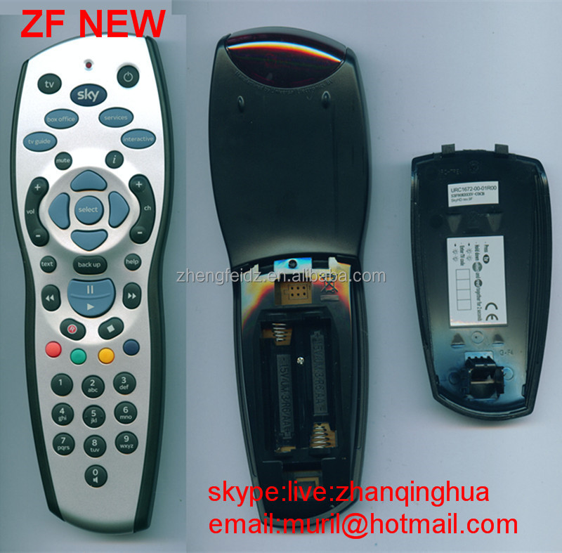 High Quality Silvery+Black Sky + HD Remote Control REV 9 sky universal remote control for South America