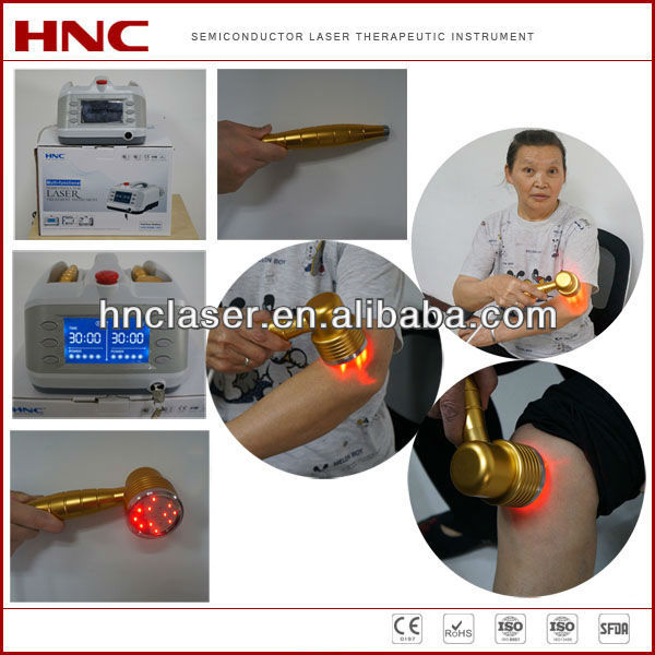Pain relief cold laser therapeutic instrument 808nm diode laser and 650nm diode laser acupuncture machine