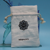 Customized Organic Cotton Pouch, Cotton Drawstring Pouch