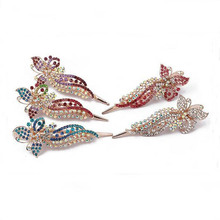 New female fashion hair ornaments rhinestones duckbill clip barrettes