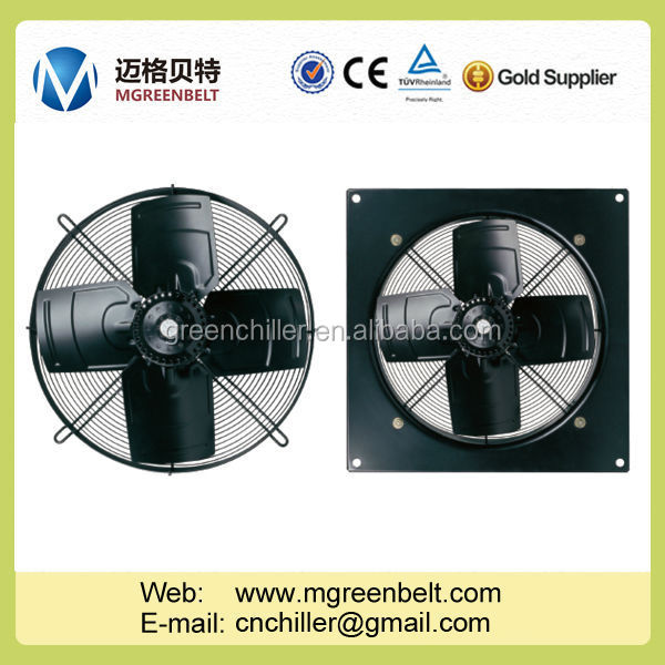 Air Cooled Water Chiller Condenser Industrial Suction Blower Fan