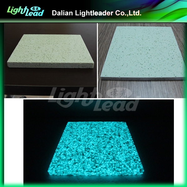 Living room glow in the dark decorative glass marble