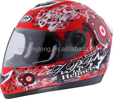 Mens Motorcycle helmet with double visor---ECE/DOT Certification Approved
