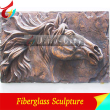 Well Painted Wall Sculpture Horse Wall Sculpture for Decoration
