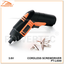 POWERTEC 3.6V Rechargeable Cordless Screwdriver Set ,rechargeable mini cordless screwdriver set