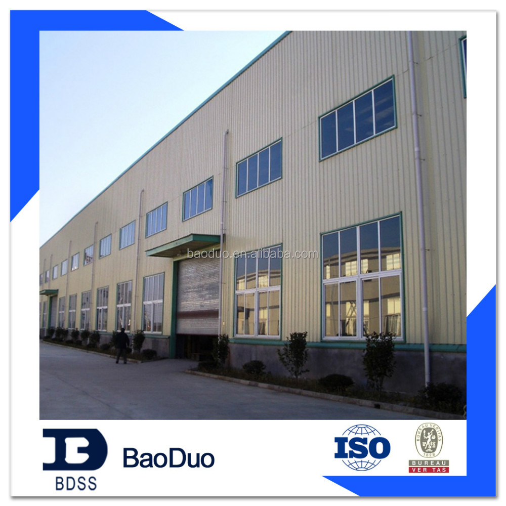ISO9001&BV construction design steel structure warehouse shed