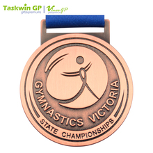 Customizable Gymnastics Championships Antique Copper Plating Medal