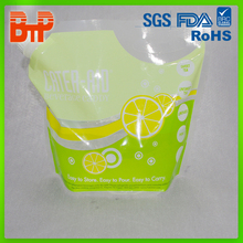 Food Grade reusable food/water/ fruit juice/ oil spout pouch packaging bag