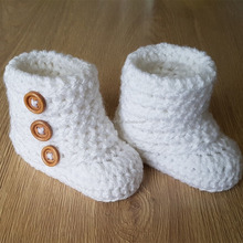 Sales yellow autumn winter boots hand crochet warmful baby shoes knitting baby booties