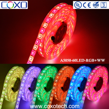5M Roll White PCB 12V 24V SMD 5050 IP68 Waterproof RGB Ribbon Led Strip Lights