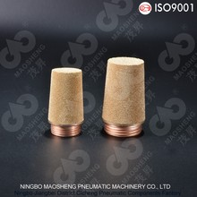 SC Type Series Muffler With Steel Copper Plated Nipple Pneumatic Muffler