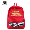 Teeth grain waterproof backpack bag fashion school backpack 2015