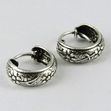 Beautiful Bali Oxidized Plain Silver 925 Sterling Silver Earring