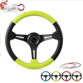Ryanstar Racing Universal Japanese Deep Corn Dish 350mm Leather Race Steering Wheel