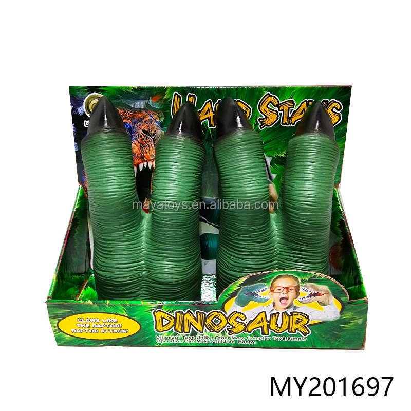 Hot Selling pvc gloves toy kid dinosaurs claw gloves with funny