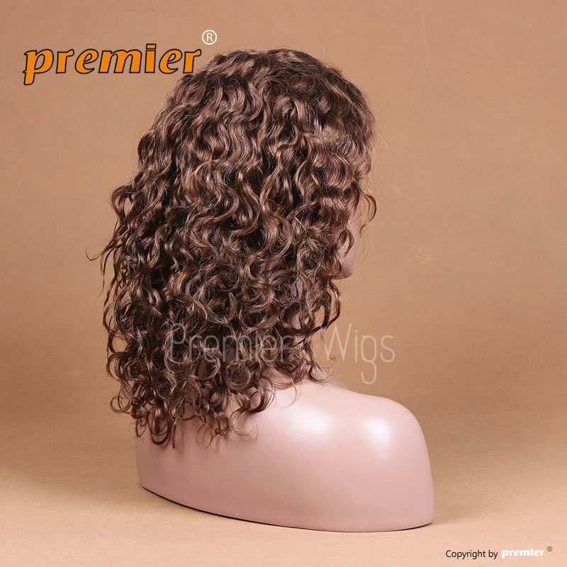 2014 Qingdao Premier WIgs 4/30# 7A Grade fashion wig human hair lace front wigs with bangs