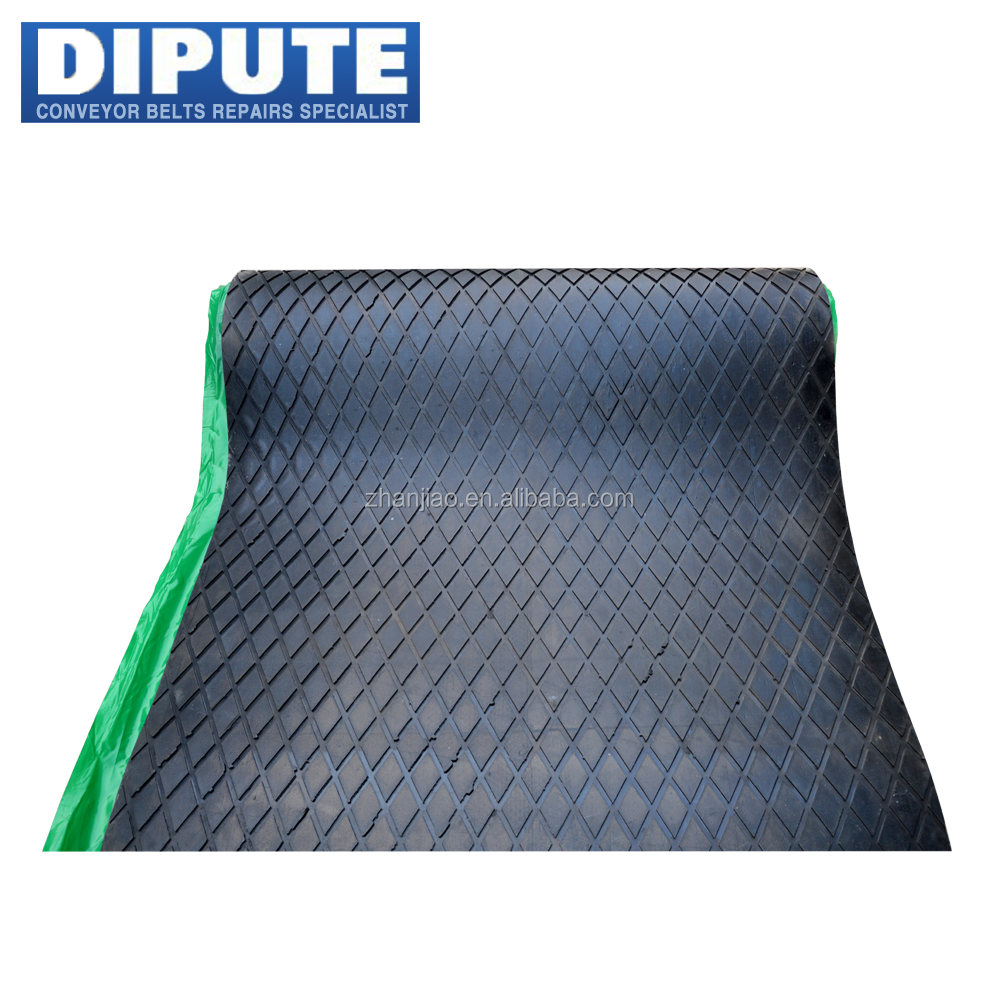 high elastic conveyor black diamond shape anti slip rubber sheet