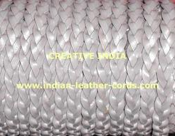 Flat Leather Cord 10mm 3 Ply Whole seller Grey color flat lace