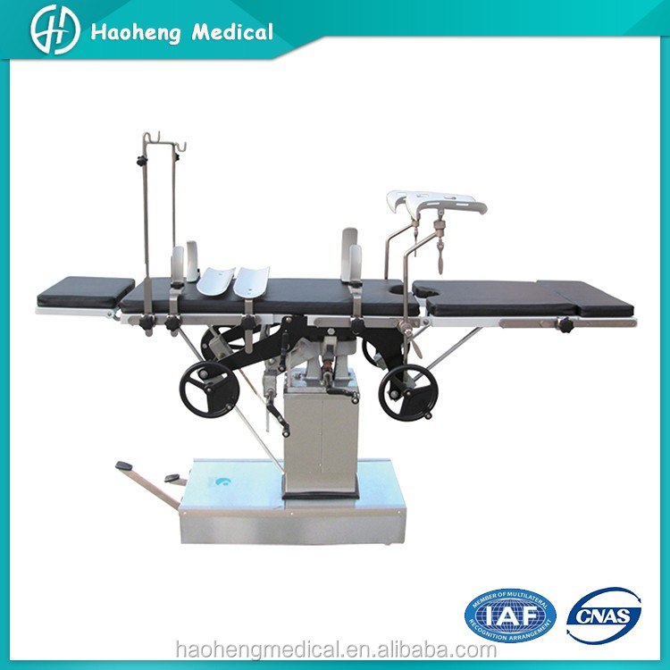 Stainless Steel Adjustable Hydraulic Manual Surgical Table