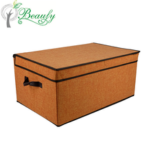 Storage Box with Lid Strong Foldable Basket Organizer Bin With Rope Handle By Storage Works