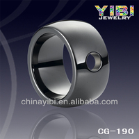 Top latest design 2014 trendy ring,gents diamond ring design,Black ceramic ring wedding bands