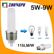 gx24q 3 led light 7w 8w 9w 10w 360degree plug lamp