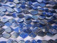 LAPIS LAZULI DIAMOND SHAPE GEMSTONE BEADS