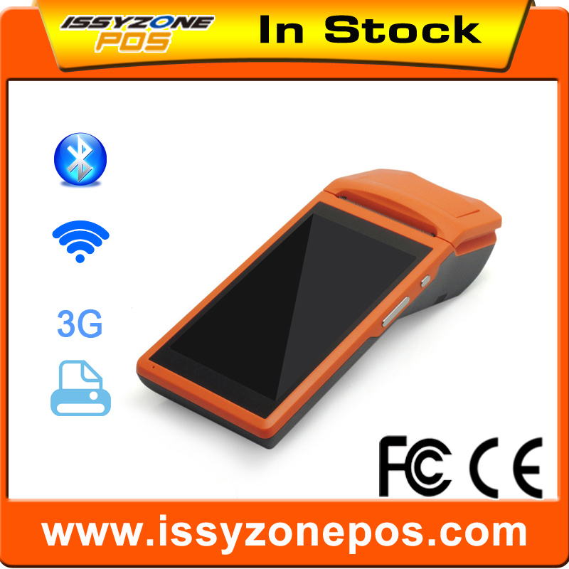 IPDA020 Sunmi V1 PDA 5.5 inch Touch 3G Wifi Bluetooth iBeacon with 58mm Printer built-in