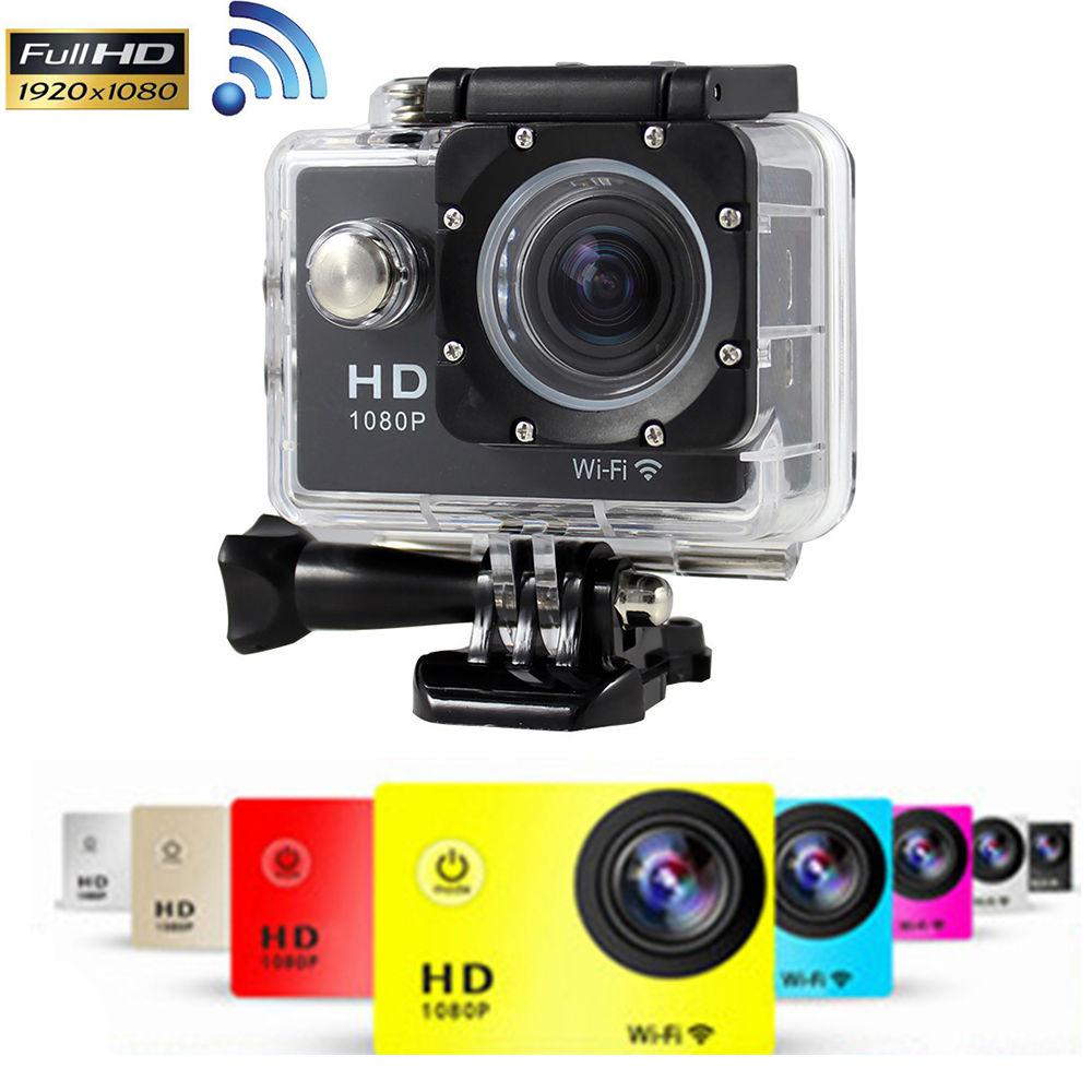 "HD 1080P 30FPS 12MP W8 Wifi action Camera1.5"" LCD Sports DV Waterproof 30M Shockproof Outdoor Digital Video Camcorder Car DVR"