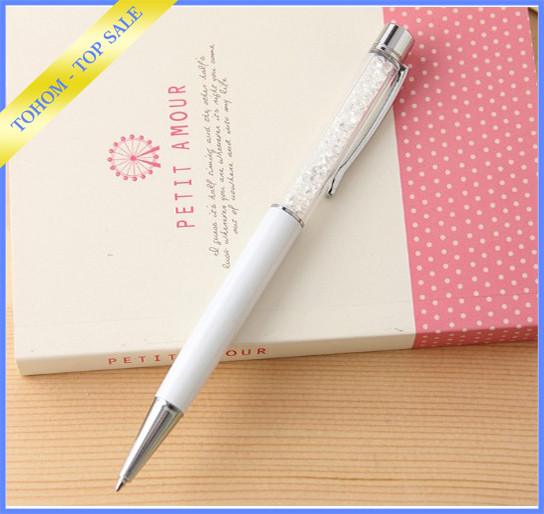 Promotional Glitter New 2016 Elegant Crystal Stylus Ball Pen