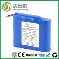 14.4 rechargeable li-ion battery pack for car