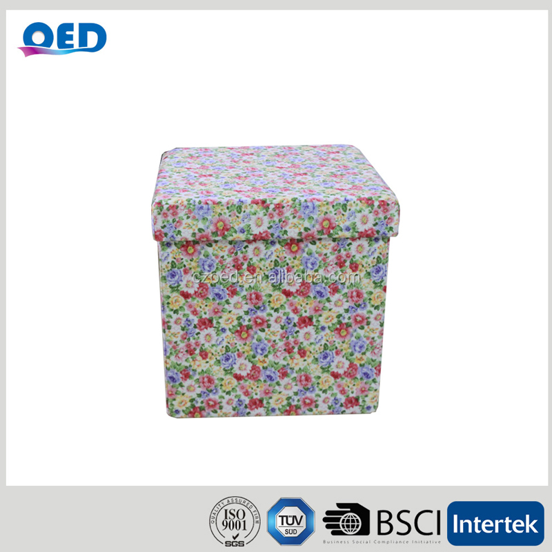 Personalized Finely Collapsible Storage Stool Factory very cheap home furniture sofa footrest