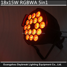 Good Product Factory Cheap Price DMX512 Stage Led Par64 Can 18x15w RGBWA 5in1 Led Par Light